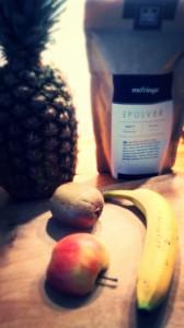 Moringa-grüner-Smoothie-Zutaten