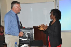 Dr. Wesselmann discussing opportunities in Kenya's agrbusiness sector