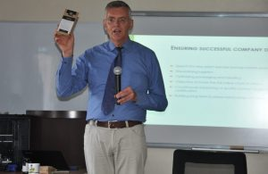 Dr. Wesselmann during his lecture Jomo Kenyatta University of Agriculture and Technology