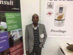 Dieses Jahr mit dabei: East Africa Director Dr. Gelase Rugaimukamu. Er stand für alle Fragen zu unseren Produkten Rede und Antwort.