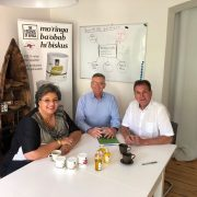 Hanna Tetteh together with the africrops! management team