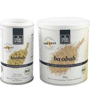 "Organic baobab powder from ""The Essence of Africa"""