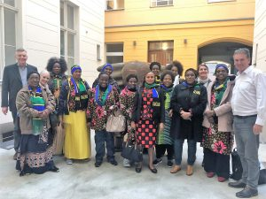 Group picture with the Tanzanian businesswomen in Berlin